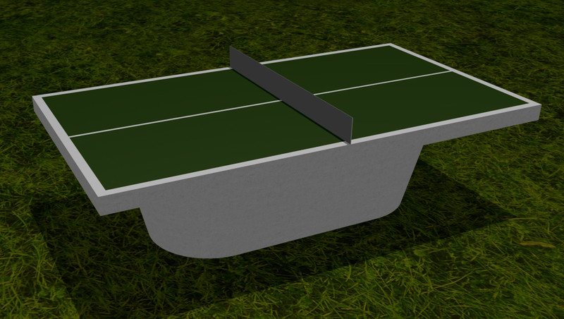 TABLE TENNIS WITH OVAL BASE With Oval Base: £2500