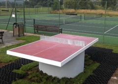 outdoor table tennis table at Hortum cum Studley