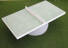 round table tennis table